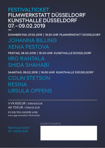 07.-09.02. FestivalTicket Approximation Festival 2019