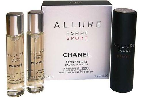 Chanel Allure Homme Sport Twist & Spray 3 x 20 ml. Travel-Set