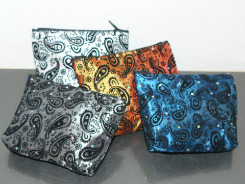 Seidentasche, klein,paisley, orange