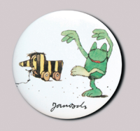 Janosch-Button Dancing frog
