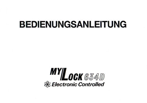 "Electronic Controlled ""My Lock 634 D"""