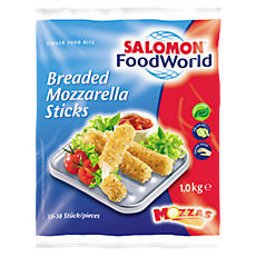 Salomon Breaded Mozzarella Sticks 1 kg Beutel Vegetarisch