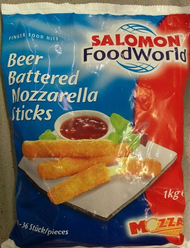 TK Beer Battered Mozzarella Sticks Salomon 1000g