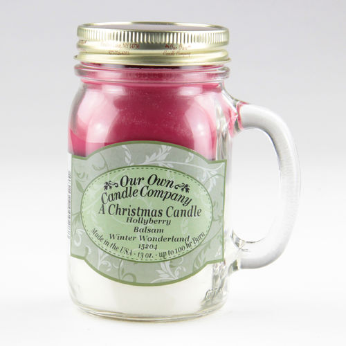 Christmas Candle Large Mason Jar  Triple