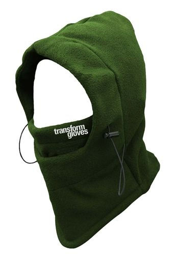Transform Gloves The Villain Hooded Neckwarmer Army Green