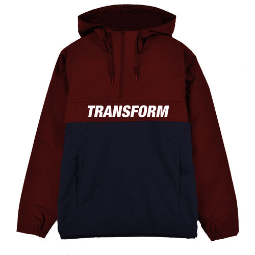 Transform Gloves The Fast Text Windbreaker Burnt Red/Navy