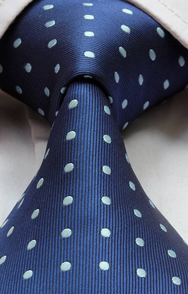 Blue tie with embossed polka dots Blue Sky