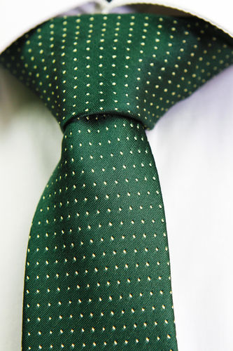 Green tie yellow dots