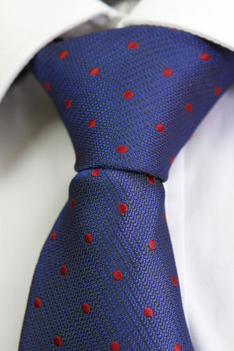 Blue tie red dots