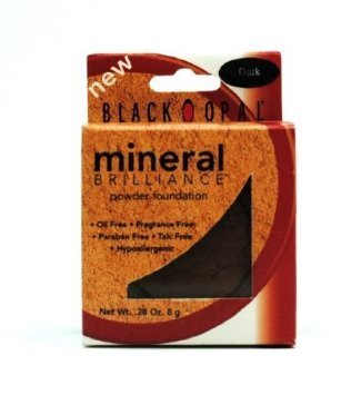 Black Opal- Mineral Brilliance Powder Foundation 8g- DARK