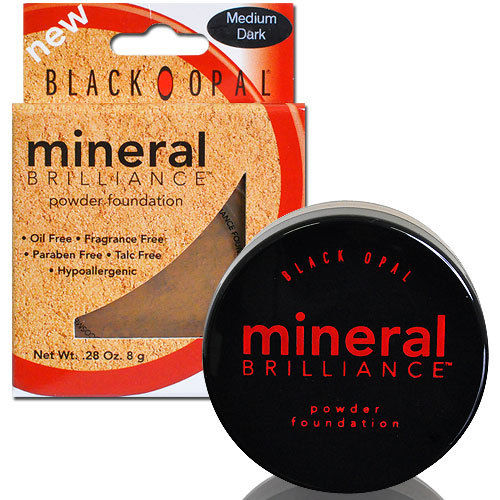Black Opal- Mineral Brilliance Powder Foundation 8g, MEDIUM DARK