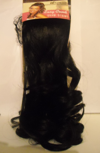Aftress- Human Hair PonyTail, Colour 1B