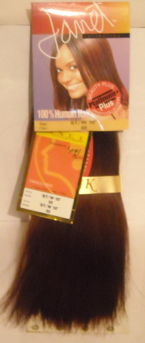"Janet Collection- Straight Human Hair, 10"",  Colour 33"