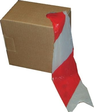 Non - Adhesive Barrier Tape 72mm x 500m Red and White 1 ROLL