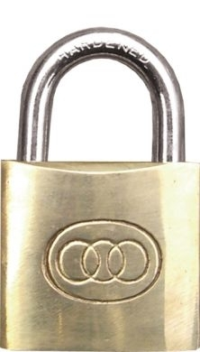 Brass Padlock 40mm 3 Keys