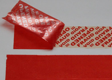 Plain Assetloc Security Tape Roll of 50 Metres x 50mm. Continuous Roll. RED.