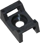Cable Tie Cradles Black 15mm x 10mm x 7mm PACK OF 100