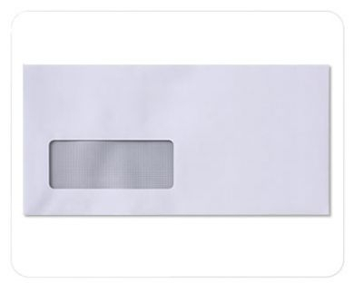 White Envelopes with Window 220mm x 110mm 80gsm PACK OF 1000