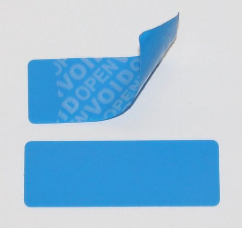 C902 Blue Security Labels Voidloc Tamper Evident Labels Roll of 100 Labels. Colour Blue. 100 x 30mm