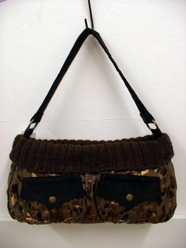Brown Gold Animal Print Handbag  SALE CLEARANCE REDUCED