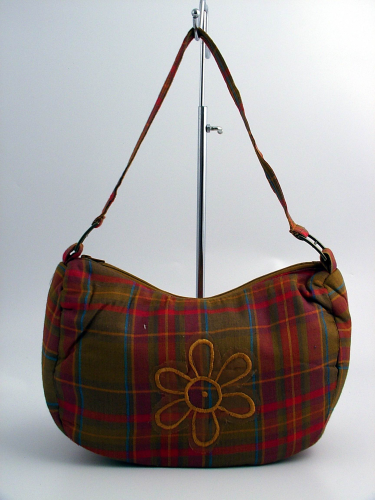 Orange Tartan Handbag SALE REDUCED 50% OFF CLEARANCE