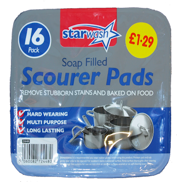 £1.29 P.M Soap Filled Pads (6)