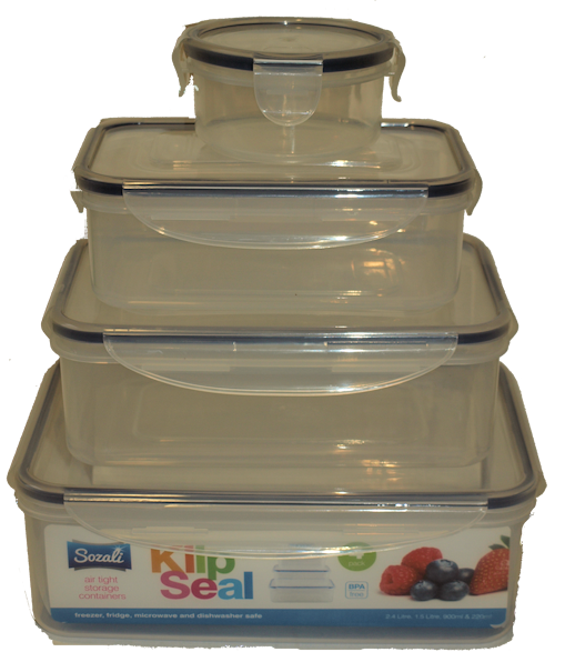 4 Pack Airtight Containers