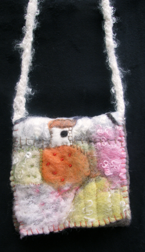 Felted Bag Small Cottage in the Fields