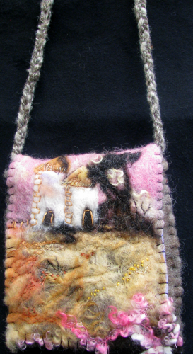 Felted Bag Towers and Trees