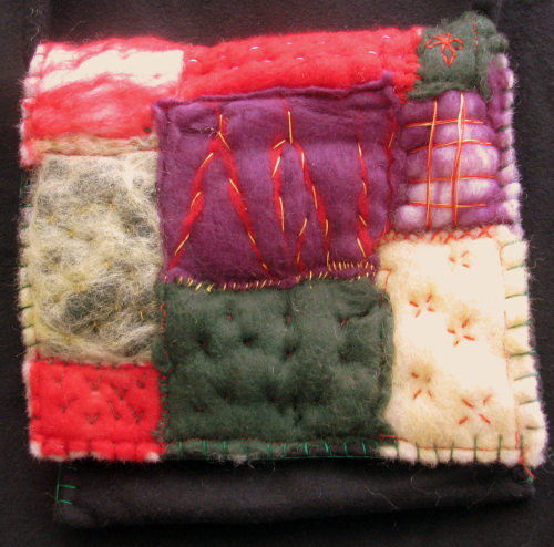 Felted Bag Patchwork Fields