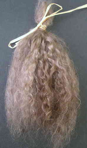 Premium Curly Ash Blonde Mohair for Reborns and Doll Making