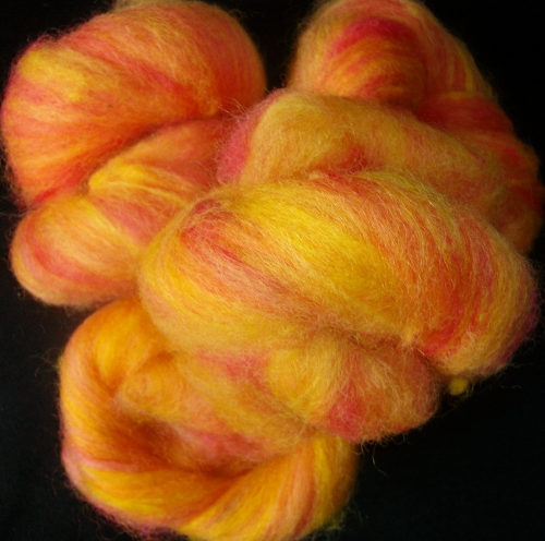 Greyface dartmoorCarded Wool  Sunset