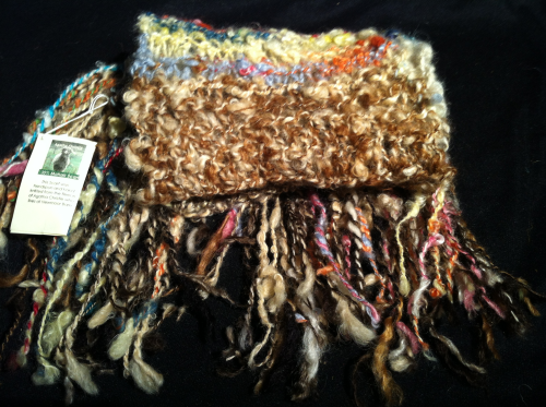 Brights and Browns Mohair Scarf