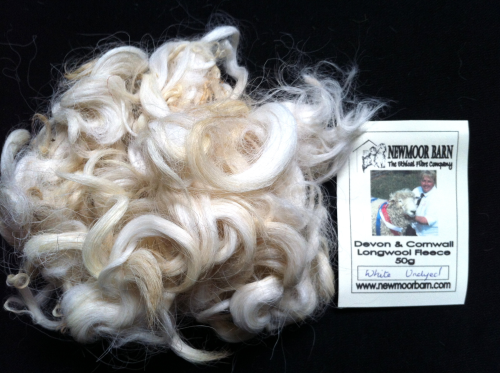 Devon & Cornwall Longwool Loose Fleece White undyed 50g