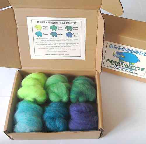 Blues and Greens Colour Pallete Texal Wool 6 X 15g