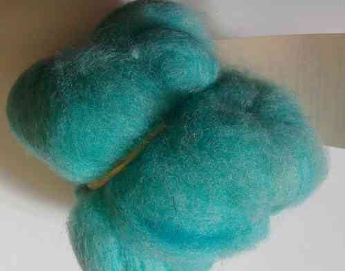 Texal Turquoise Carded Wool 50g