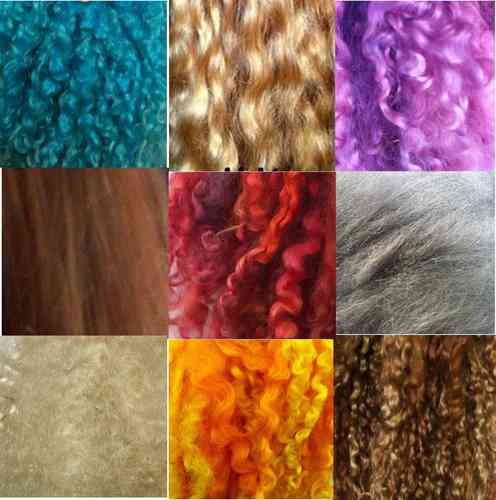 Sample Pack of 5 colours and fibres