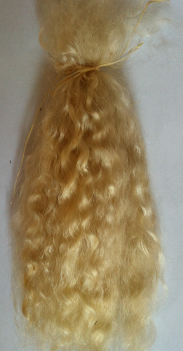Premium Yearling Light Golden Blonde Mohair for Reborns and Doll Making