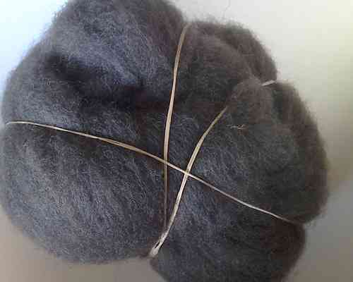 Texal Charcoal Carded Wool 50g