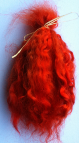 Premium Conditioned Wavy Locks of Bright Auburn Mohair for Reborns and Doll Making