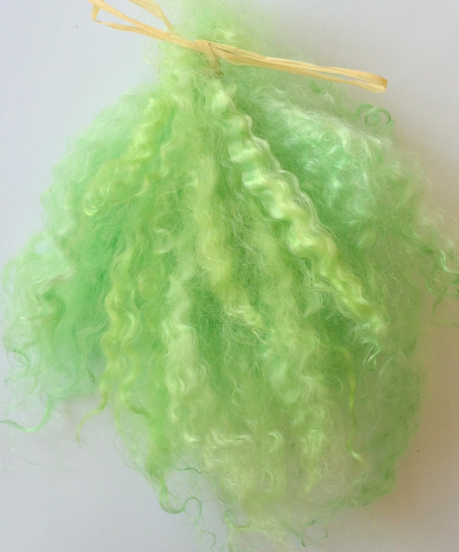 Premium Pastels  Mohair Green for Doll Making