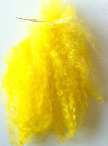 Premium Pastels  Mohair Yellow for Doll Making