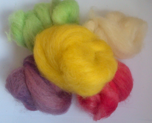 Greyface Dartmoor Carded Wool Mixed Colours