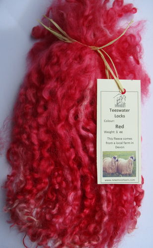 . Teeswater Locks in Red for Doll making 1 oz