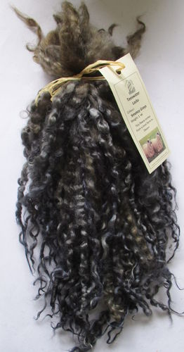 .Teeswater Locks in Smokey Grey for Doll making 1 oz