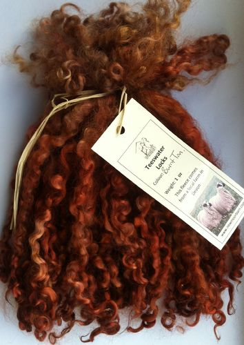 Teeswater Locks in Burnt Tan for Doll making 1 oz