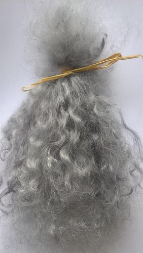 Premium Curly Mohair in Greys for Reborns and Doll Making