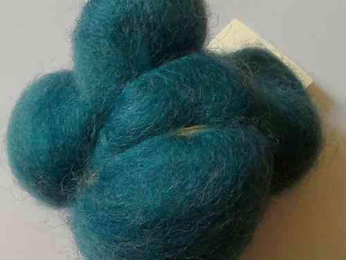 Texal Teal Carded Wool 50g