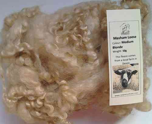 Masham Loose Wool 50g Medium Blonde
