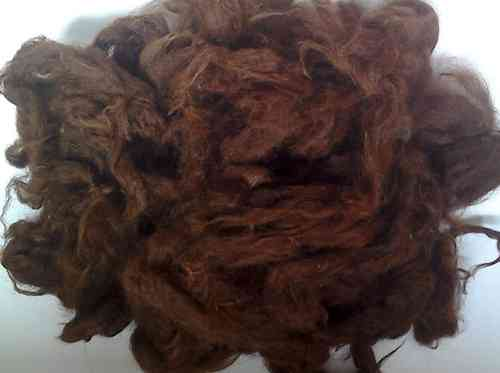 Alpaca Huacaya Loose Fibre Chocolate Brown Undyed 25g